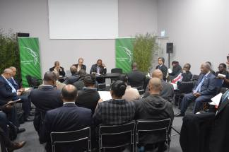 CARICOM Negotiators meeting at COP 21 Photo Credit: Ministry of Sustainable Development Energy Science and Technology (Saint Lucia)